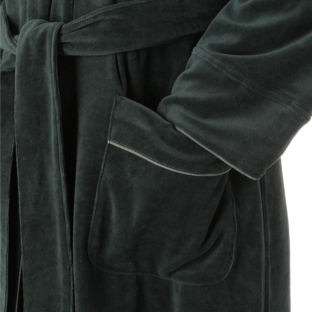 Armani Plain Velour Dressing Gown In Green For Men Lyst