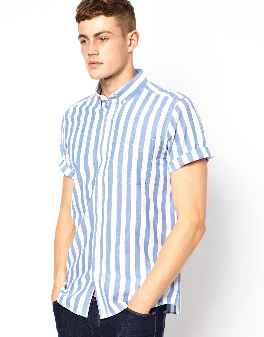 French Striped Shirt Men