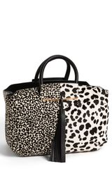 B Brian Atwood Gena Animal Pattern Calf Hair Medium Tote  - Lyst
