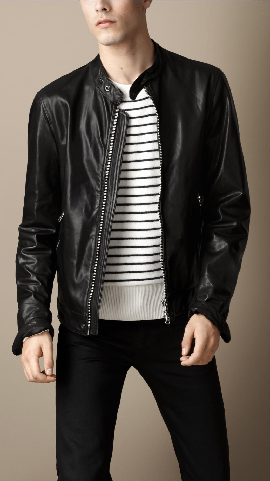 Soft black leather jacket