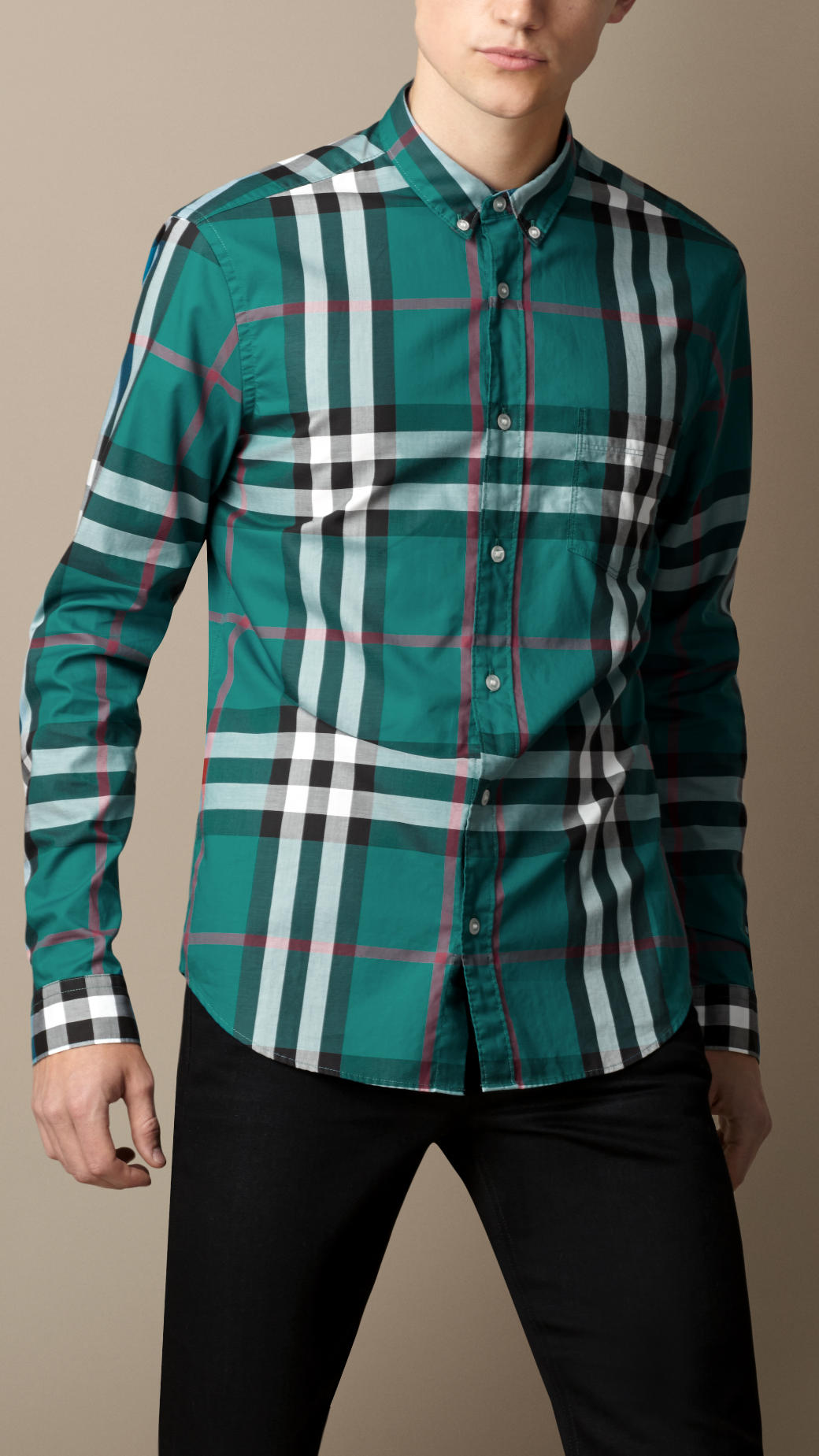 check shirt - Green Burberry Discount Cheap Online Discount With Credit Card Buy Cheap View Discount Marketable 2n9p0kfAX
