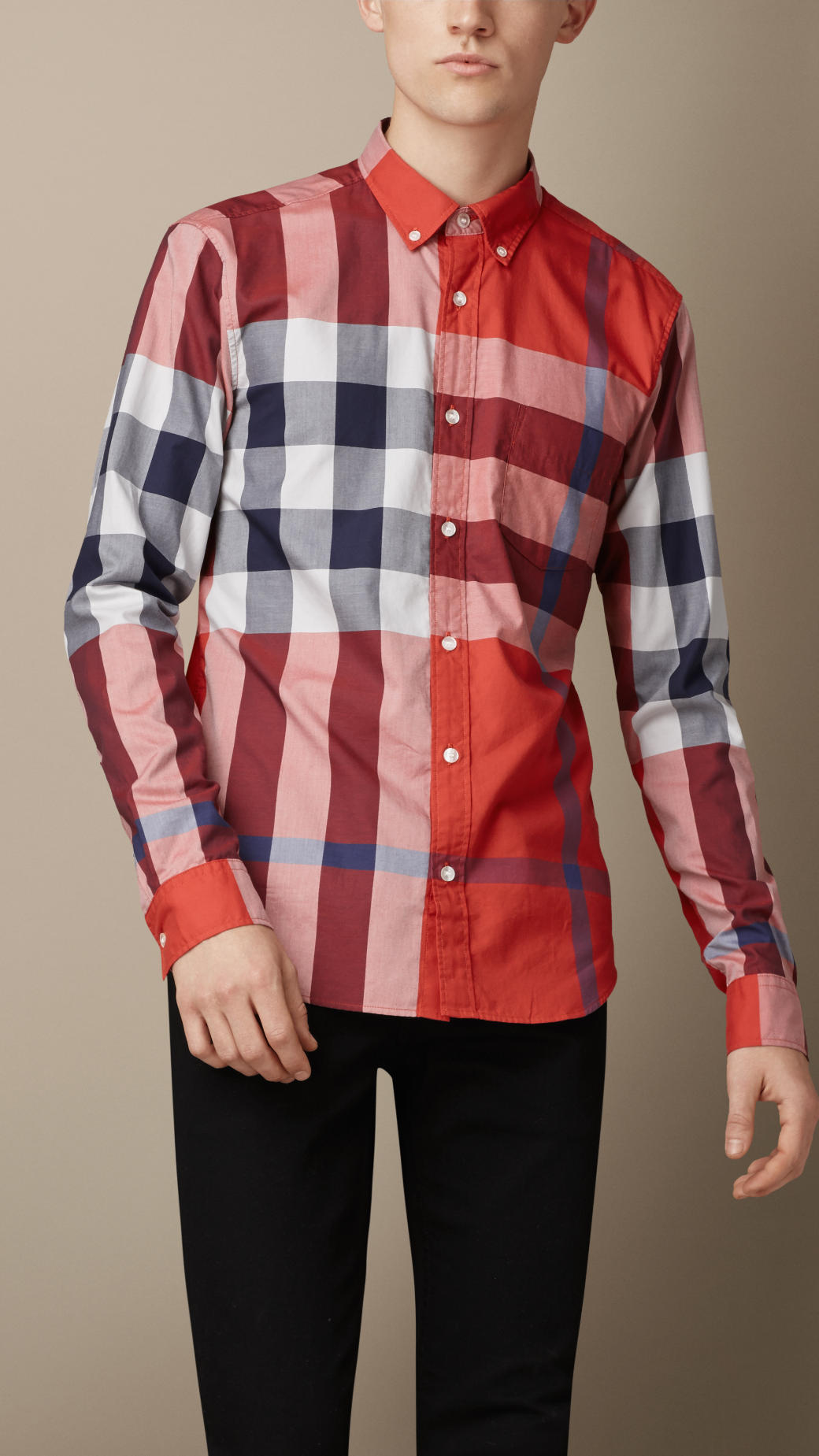 b0a0a59570cb Lyst - Burberry Exploded Check Cotton Shirt for Men