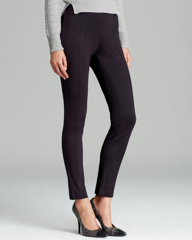 Lyst - Calvin Klein Pull On Skinny Pants in Black