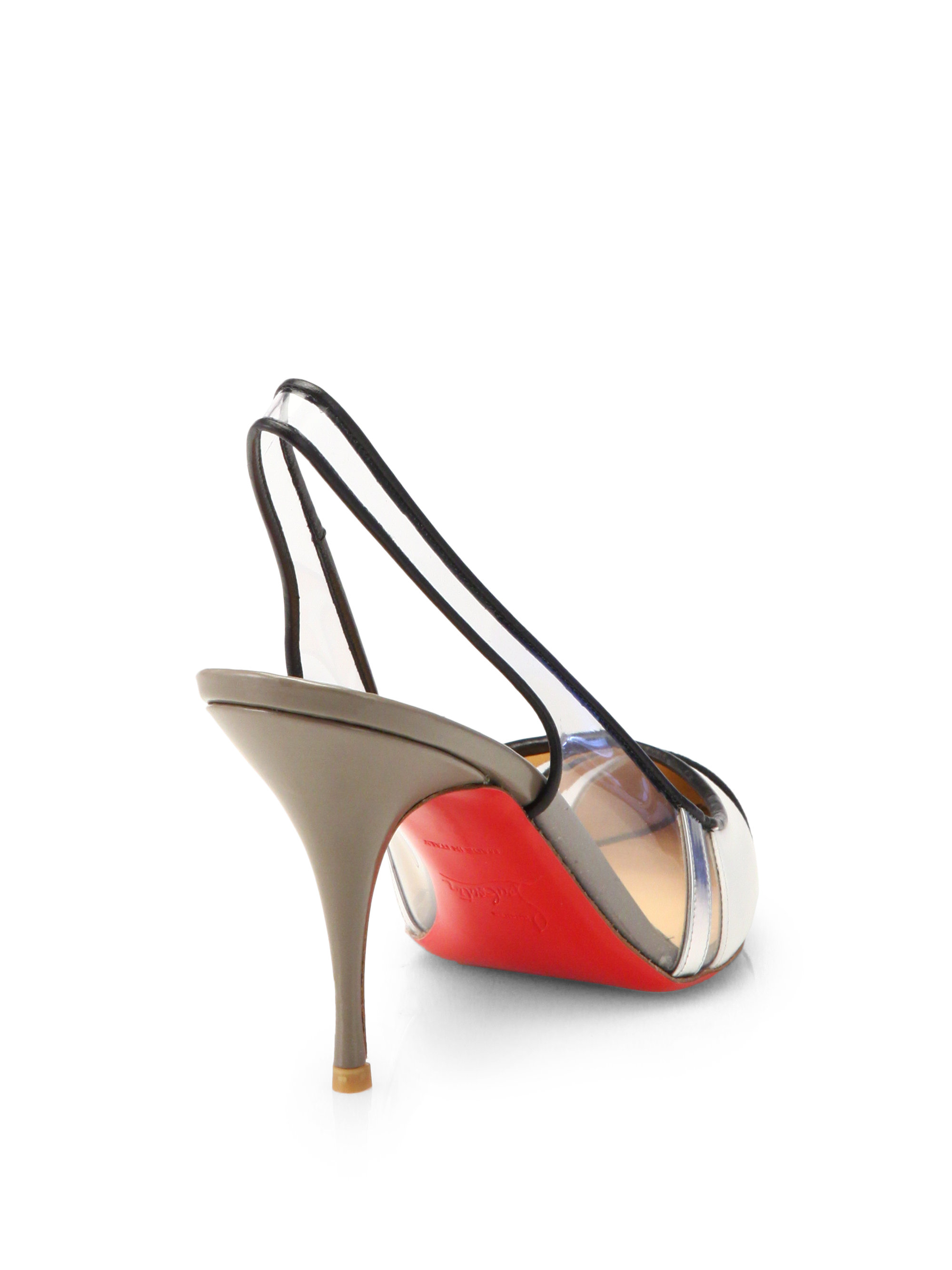 dd112d03a1a1 Lyst - Christian Louboutin Highway Transparent Slingback Pumps in ...