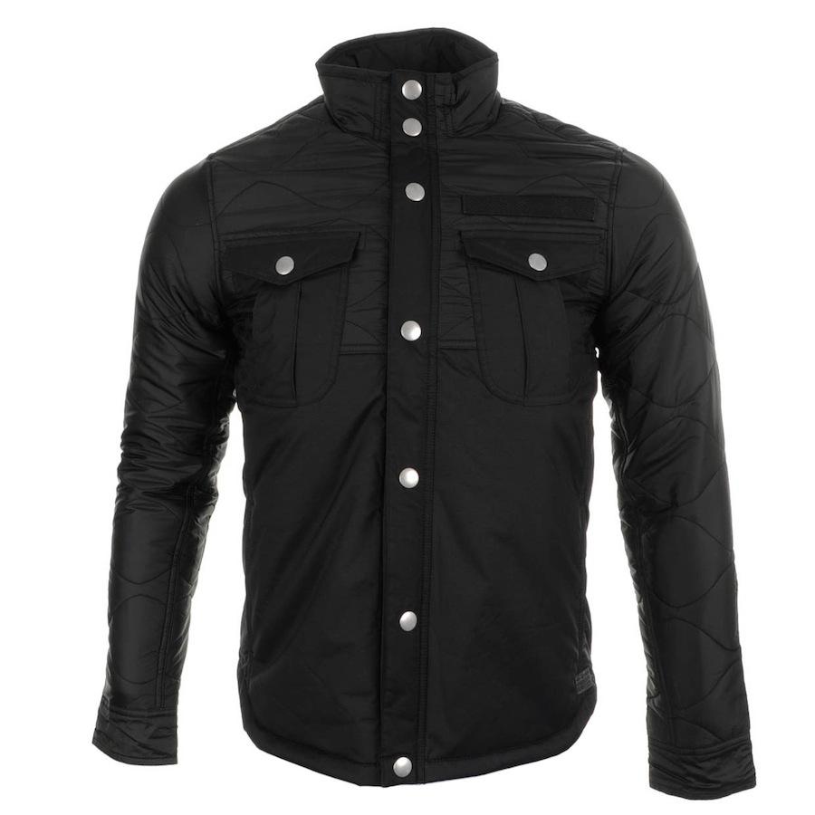 g star raw filch overshirt jacket in black for men lyst. Black Bedroom Furniture Sets. Home Design Ideas