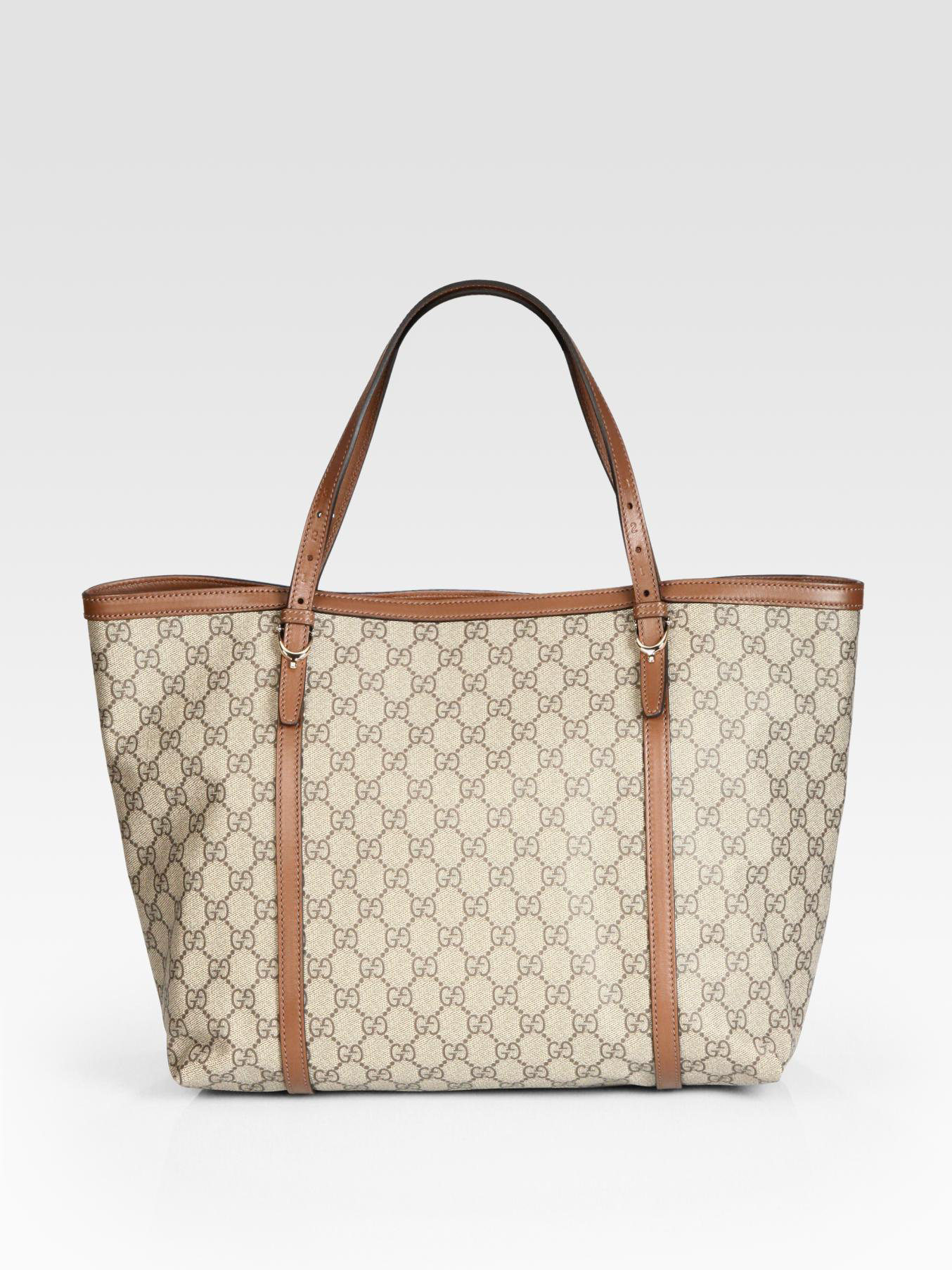 04d1c328218 Gucci Nice Gg Supreme Canvas Tote in Brown - Lyst