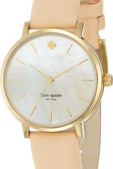 Kate Spade Metro Stainless Steel and Leather Watch - Lyst