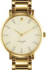 Kate Spade Gramercy Grand Stainless Steel Watch - Lyst
