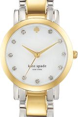 Kate Spade Gramercy Mini Stainless Steel and Goldplated Metal Watch - Lyst