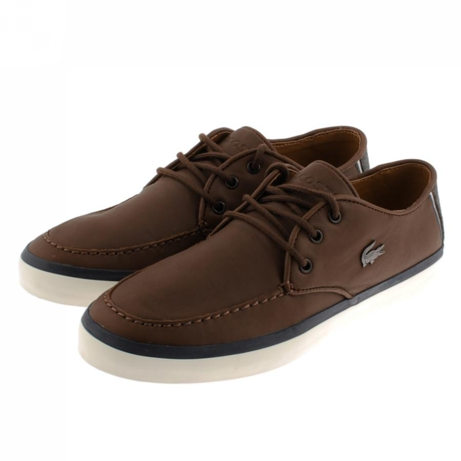 lacoste sevrin shoes in brown for lyst