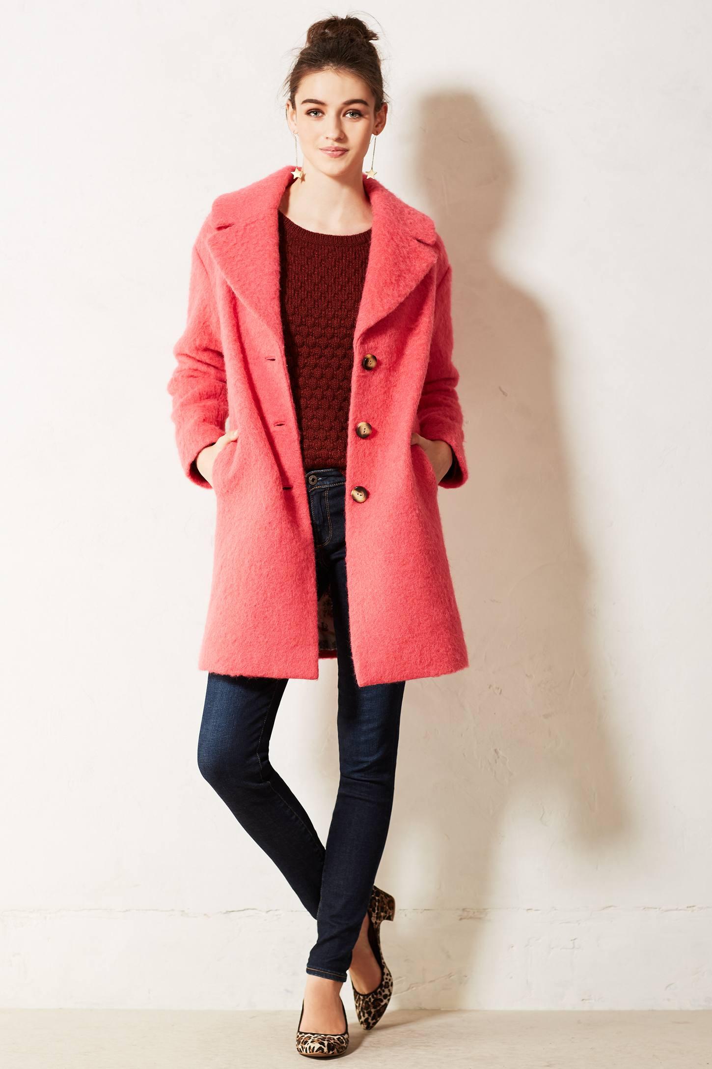 Leifsdottir Inessa Swing Coat in Pink | Lyst