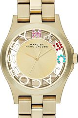 Marc By Marc Jacobs Henry Skeleton Goldtoned Stainless Steel Watch - Lyst