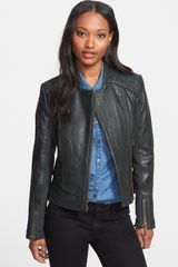 Michael by Michael Kors Textured Leather Jacket - Lyst
