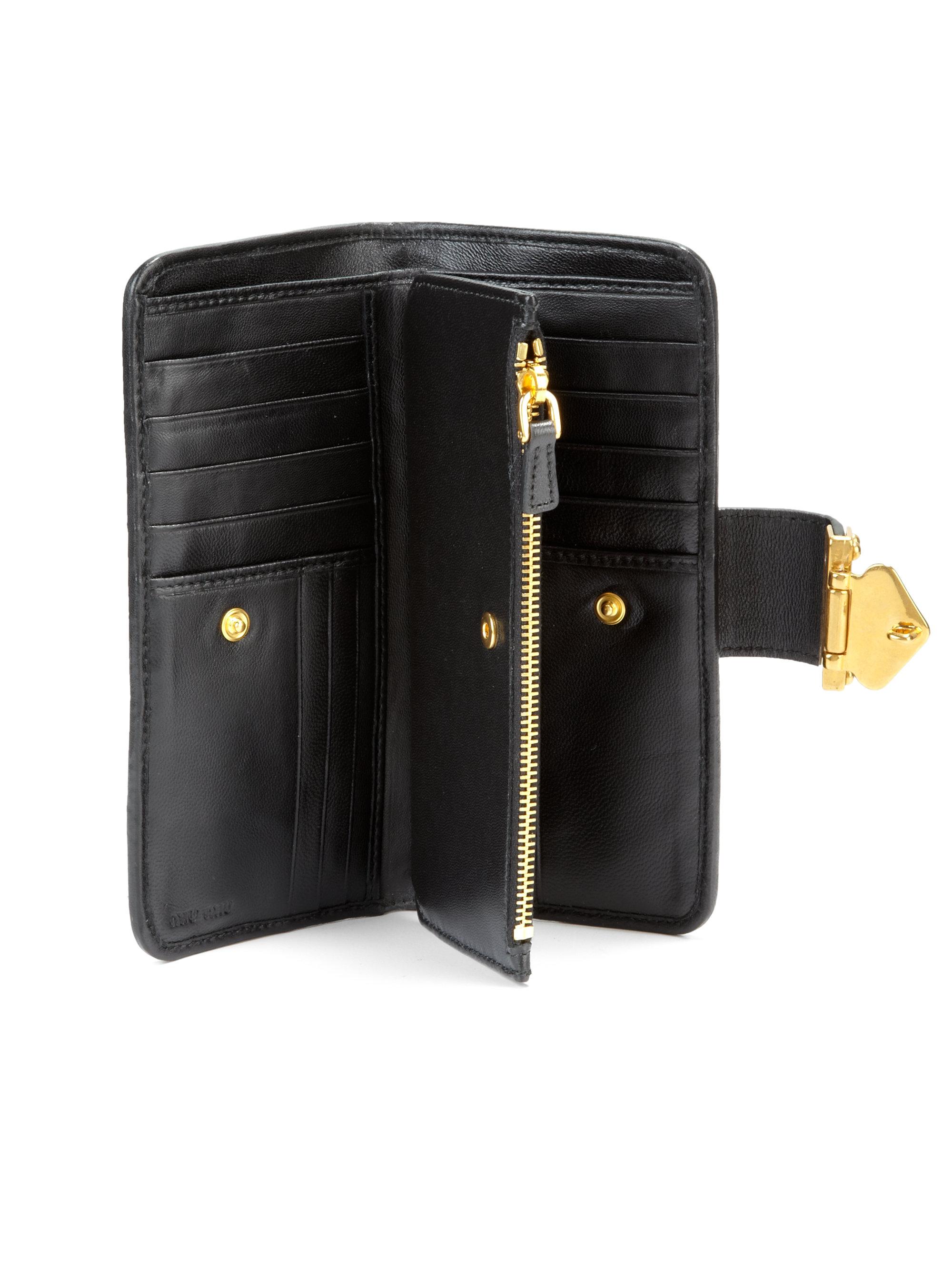 Continental wallet - Black Miu Miu nooLK