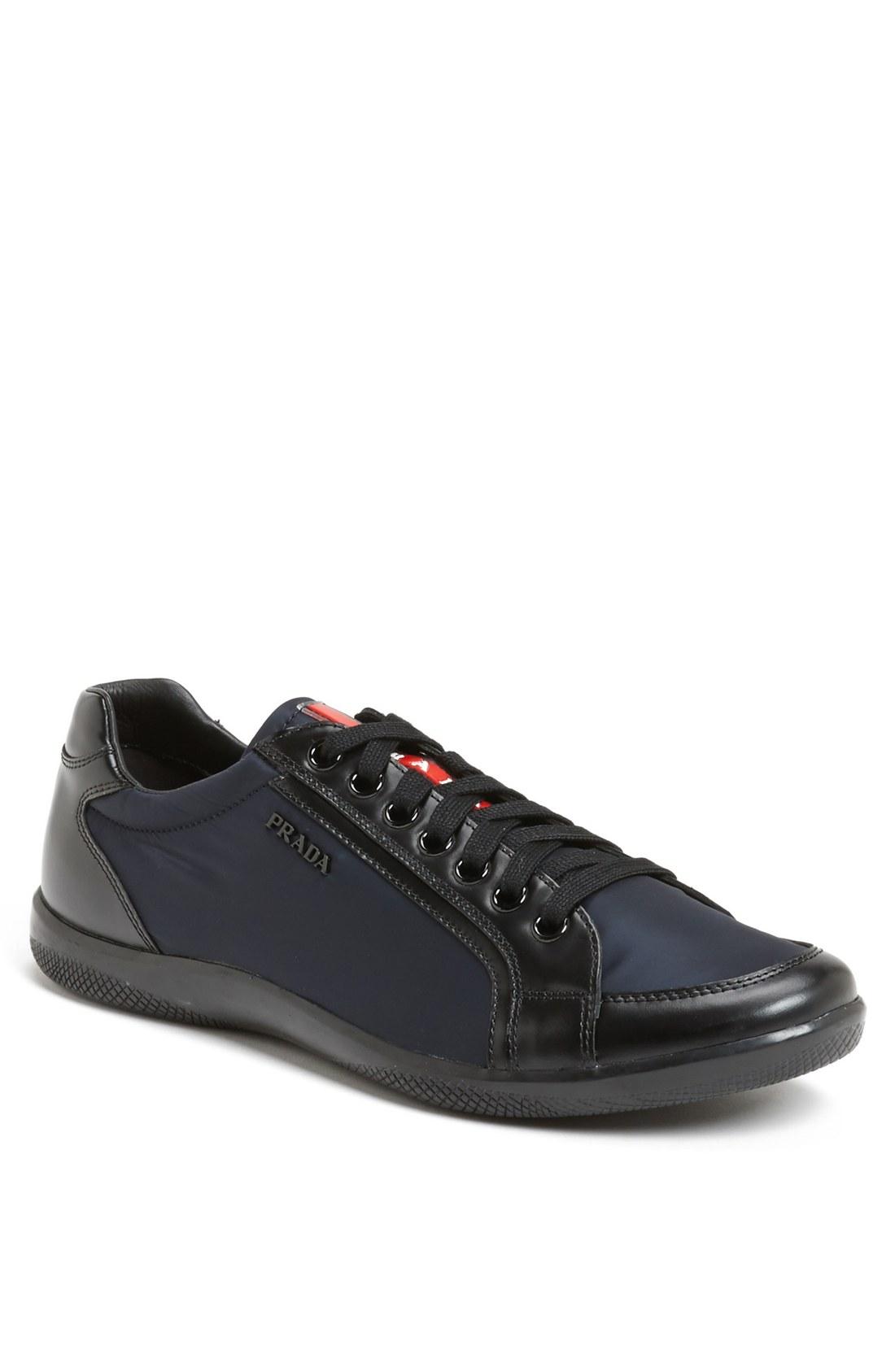 Prada Offshore Low Profile Sneaker In Black For Men Blue