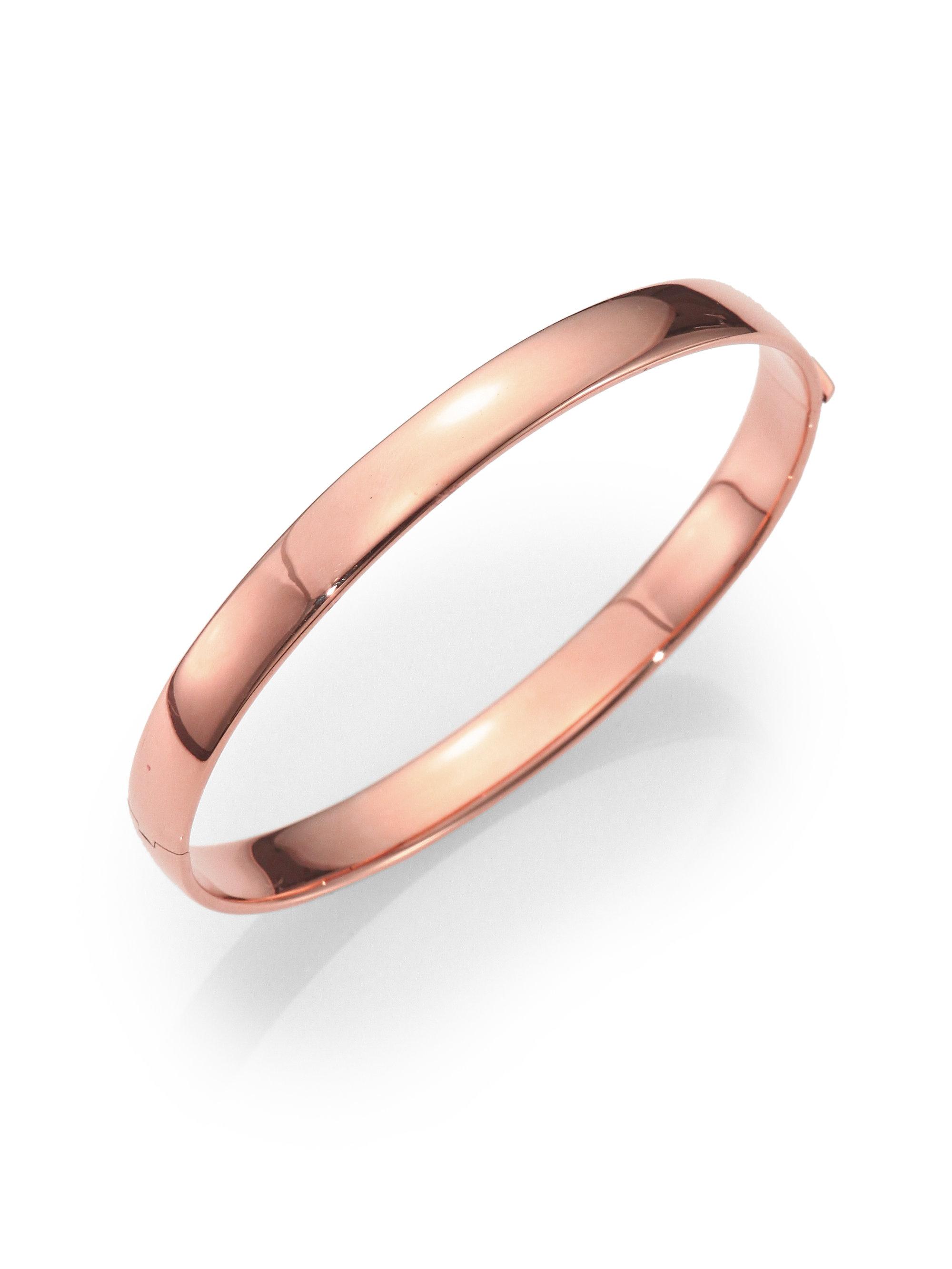 Roberto Coin 18k Rose Gold Bangle Bracelet In Pink Lyst