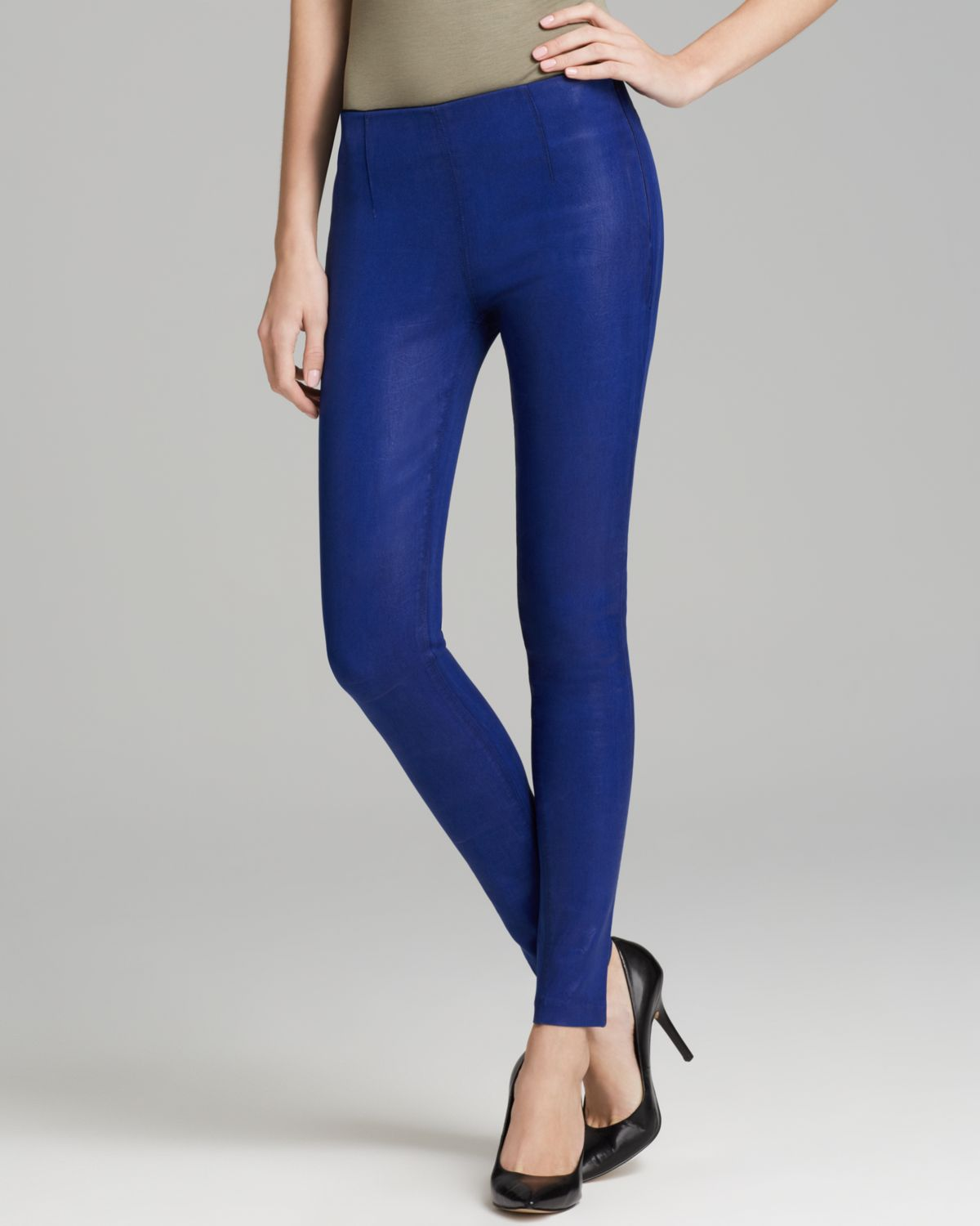 Cobalt Blue Leggings - Trendy Clothes