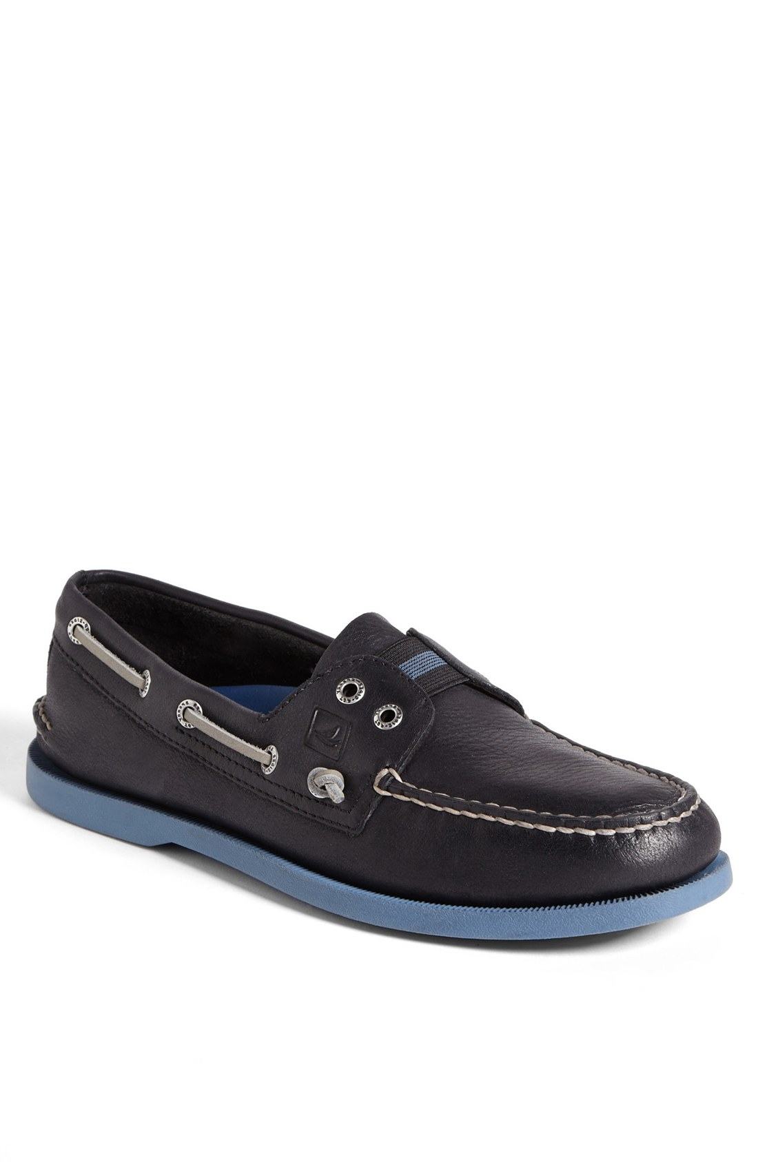 sperry top sider slipon boat shoe in black for black