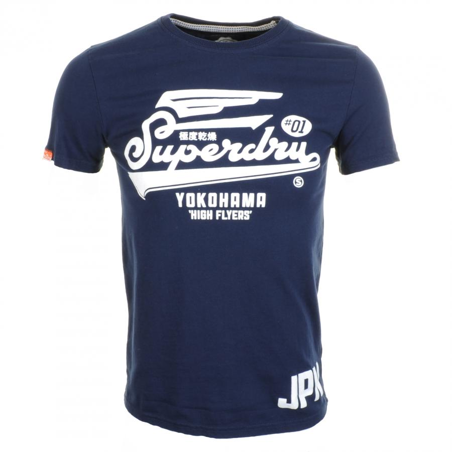 superdry high flyers entry t shirt eclipse in blue for men. Black Bedroom Furniture Sets. Home Design Ideas