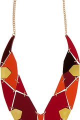 Tatty Devine Gem Cut Statement Perspex Necklace - Lyst