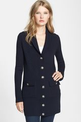 Tory Burch Tania Shawl Collar Cardigan - Lyst