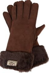 Ugg Turn Cuff Gloves - Lyst
