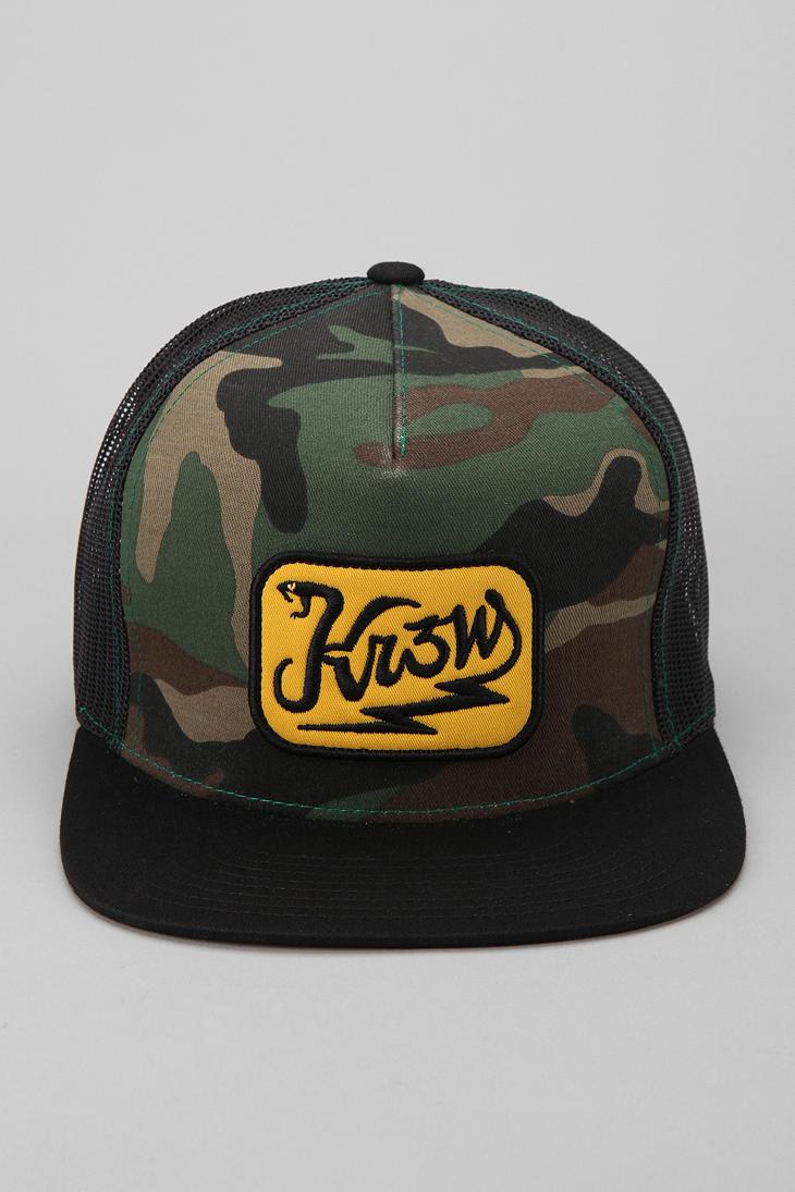 Lyst Urban Outfitters Kr3w Electro Snake Trucker Hat In