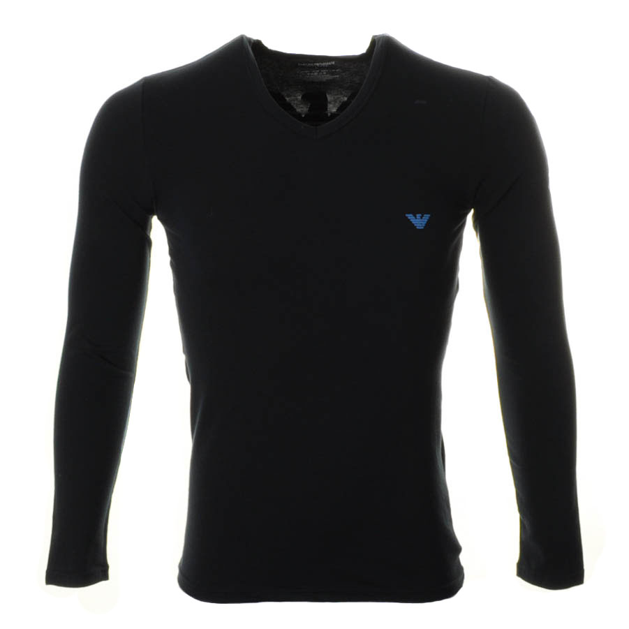 65f35fe88a Armani Jeans Long Sleeve Polo Shirt In Blue For Men Lyst Male Models Picture