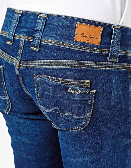 love moschino pepe jeans venus straight leg jeans in black. Black Bedroom Furniture Sets. Home Design Ideas