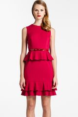 Cynthia Steffe Bardot Ruffled Peplum Sheath Dress - Lyst