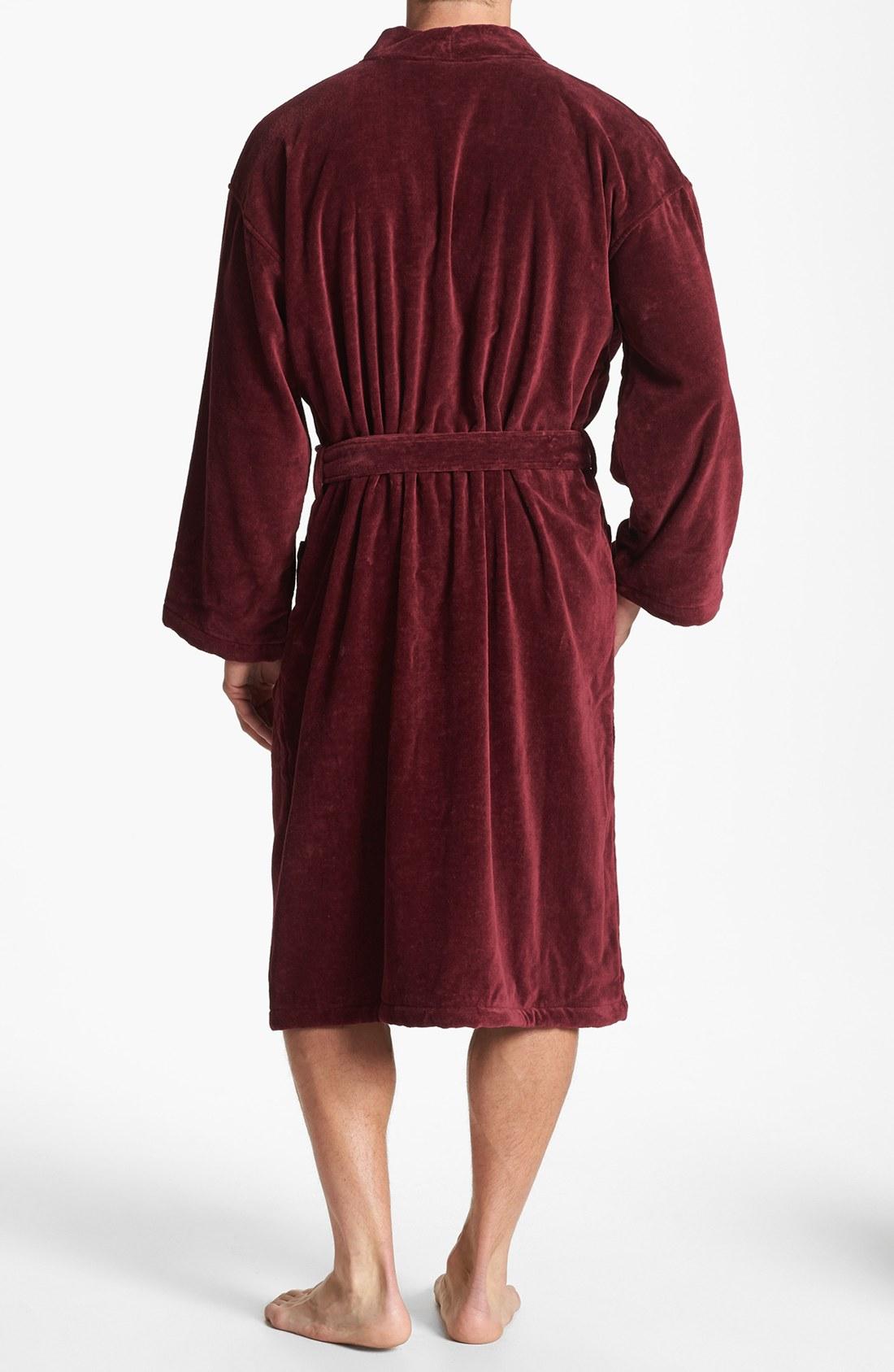 lyst polo ralph lauren velour kimono robe in red for men. Black Bedroom Furniture Sets. Home Design Ideas