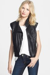 Rag & Bone Leather Moto Vest - Lyst