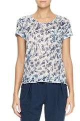 Rag & Bone The Burnout Printed Pocket Tee - Lyst