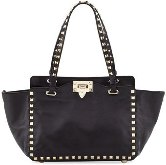 Valentino Rockstud Mini Tote Bag Black - Lyst