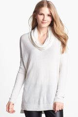 Vince Camuto Ribbed Cowl Neck Tunic Top - Lyst