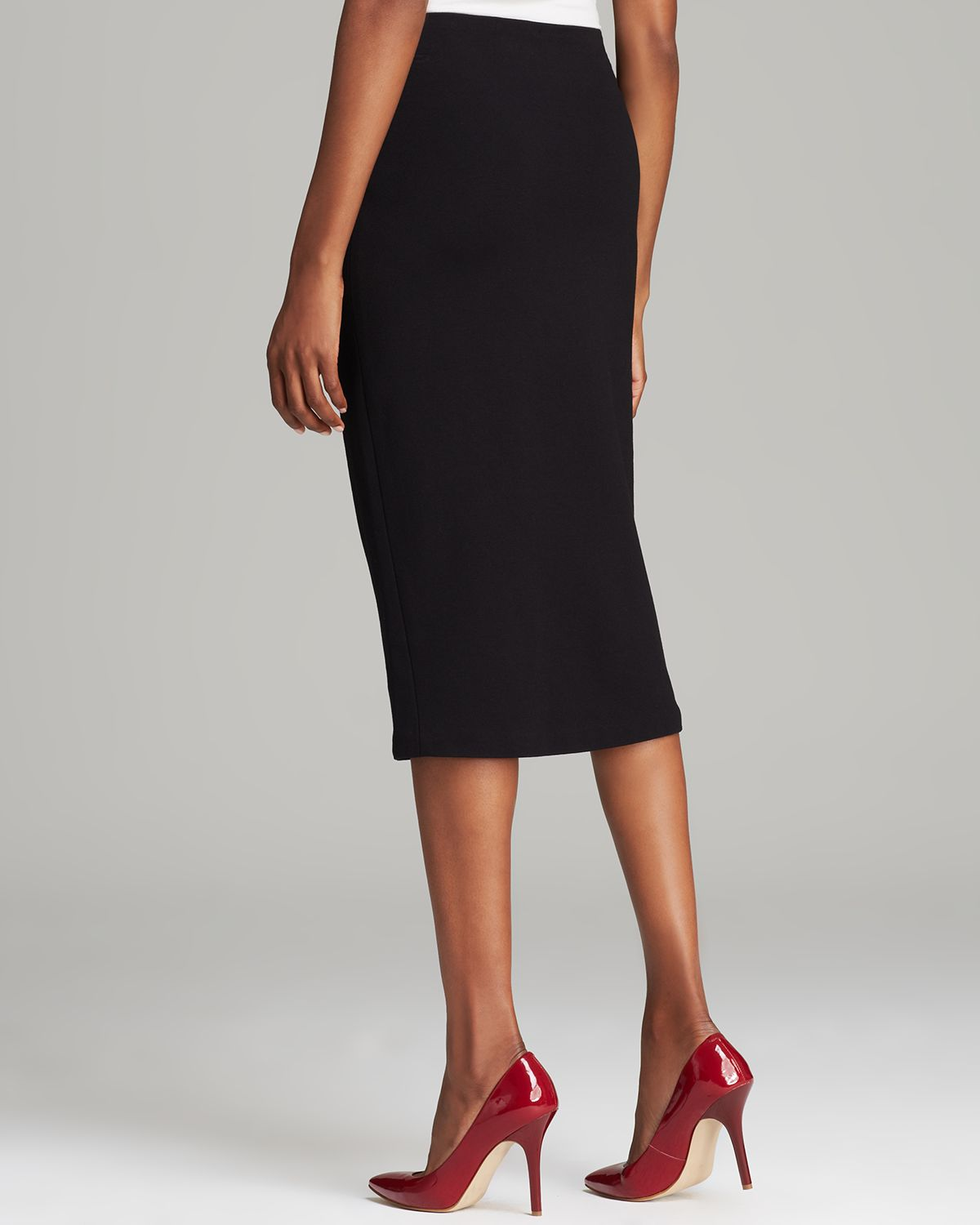 Vince camuto Long Fitted Skirt in Black | Lyst