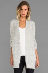 10 Crosby by Derek Lam Long Sleeve Cardigan in Gray - Lyst
