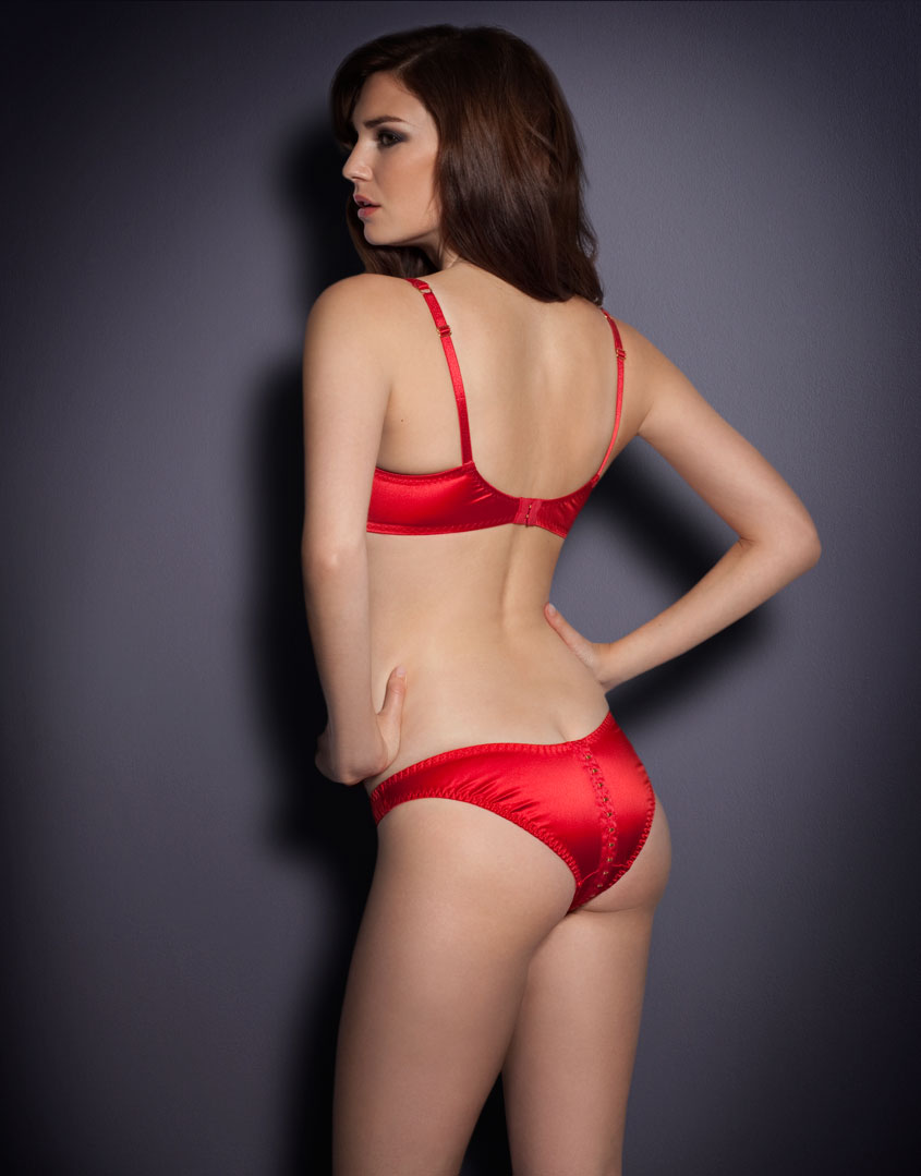 lyst agent provocateur jena brief in red. Black Bedroom Furniture Sets. Home Design Ideas