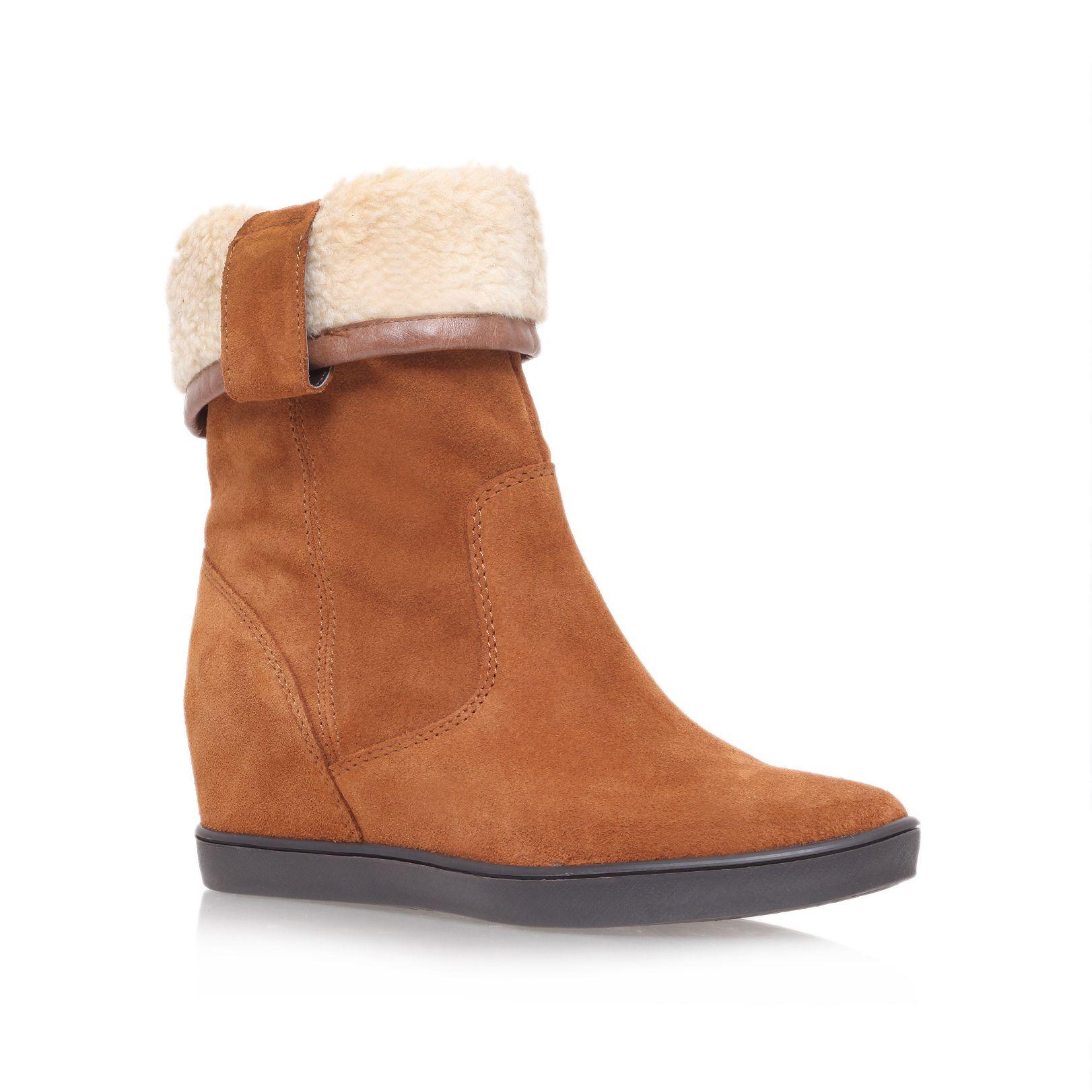 carvela kurt geiger shore low heel wedge ankle boots in