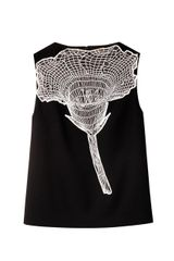 Christopher Kane Lace Flower Sleeveless Blouse - Lyst