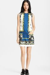 Erdem Print Stretch Sateen Dress - Lyst