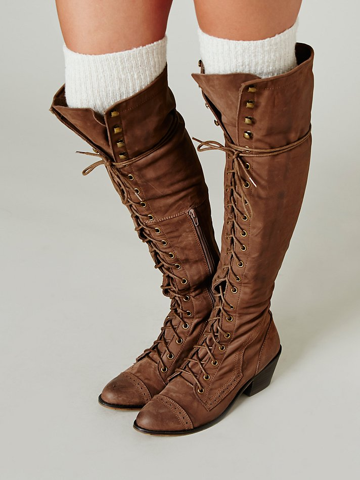 Lyst Jeffrey Campbell Joe Lace Up Boot In Brown