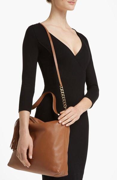 Medium Weston Pebbled Shoulder Bag 32