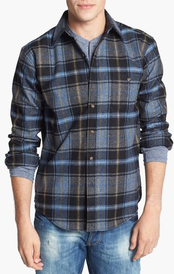 Pendleton Trail Fitted Wool Flannel Shirt with Elbow Patches - Lyst
