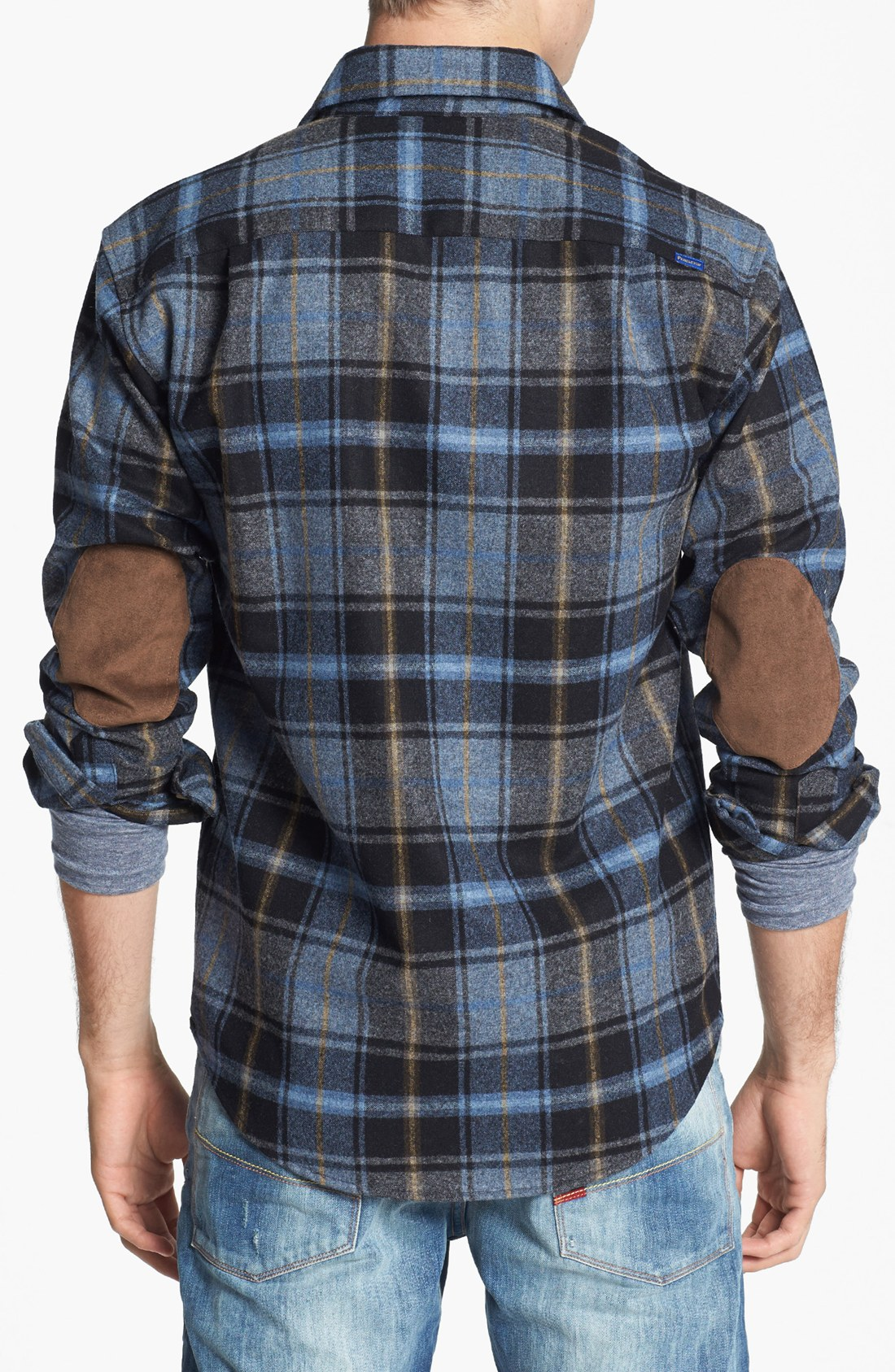 pendleton trail fitted wool flannel shirt with elbow ForMens Flannel Shirt With Elbow Patches