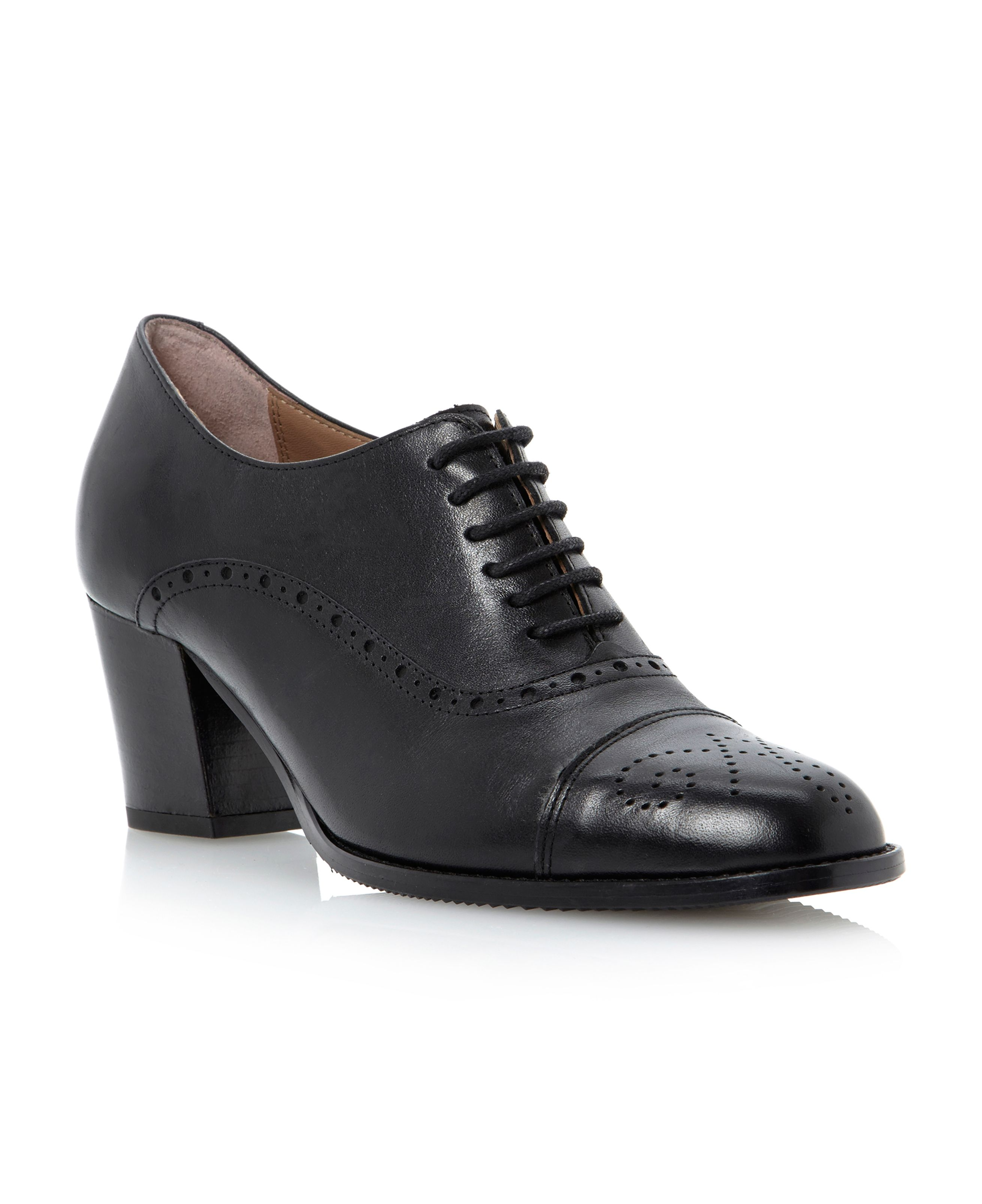Pied A Terre Agarp Lace Up Brogue Shoes In Black Black