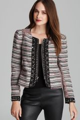 Rebecca Minkoff Jacket Roxy Embellished Tweed - Lyst