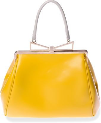 Sara Battaglia Lady Me Large Tote In Yellow Sunflower - Lyst
