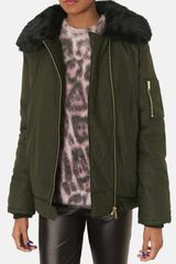Topshop Gabby Air Force Bomber Jacket - Lyst