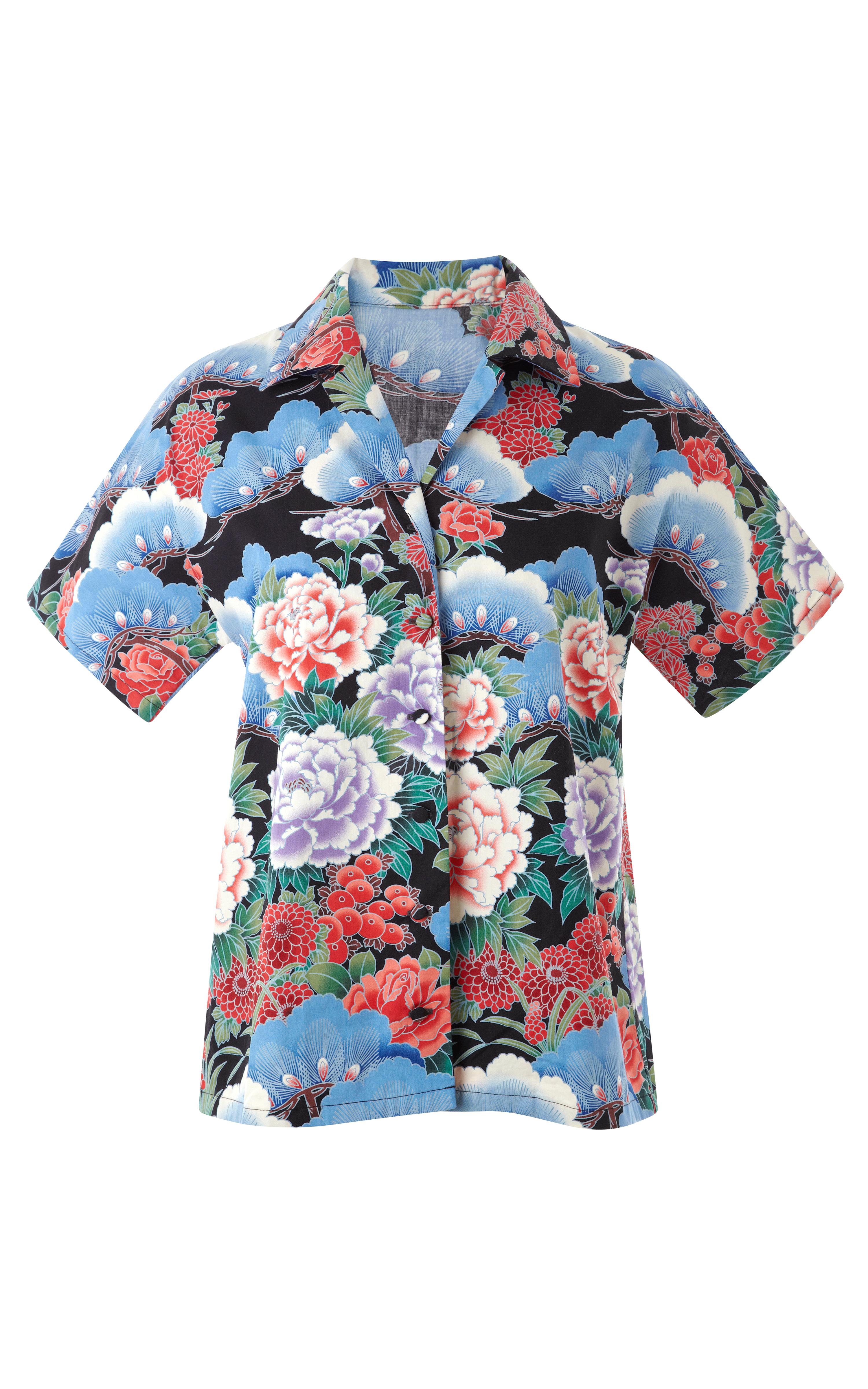 78c1c4ea323 Lyst - Awake Yakuza Floral Hawaiian Shirt in Blue